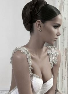 Inbal Dror wedding gown, hair, beauty. Wow!