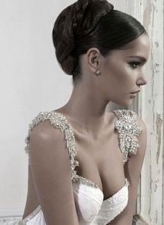 Inbal Dror wedding gown, hair, beauty. Wow!