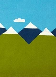 mountain peak baby blanket Babydeken | COLLECTION | Noohn