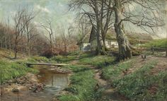 All sizes | Peder Mork Mönsted - Farmstead by a River [1904] | Flickr - Photo Sharing!