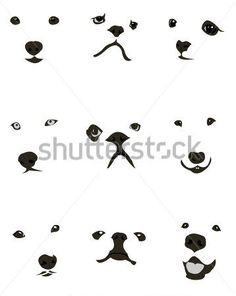 Collection of various dog breeds faces expressions. Easy editable layered vector… Collection of various dog breeds faces expressions. Mini Tattoos, Dog Tattoos, Animal Tattoos, Body Art Tattoos, Tatoos, Vector Dog, Silhouette Chat, Animal Line Drawings, Face Expressions