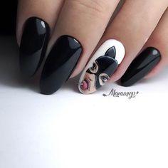 Disney Acrylic Nails, Long Acrylic Nails, Pink Tip Nails, Black Nails, Stylish Nails, Trendy Nails, Nail Manicure, Gel Nails, Nailart