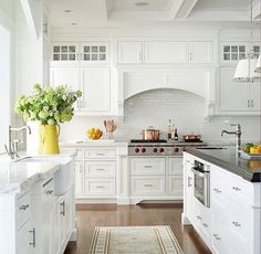 A Southern Mother | motherofsoutherncharm: Classic white kitchen...