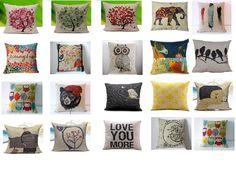 Decorative Throw Pillow Home Decor Pillows Cushion Cover Sofa Cotton Vintage #Unbranded