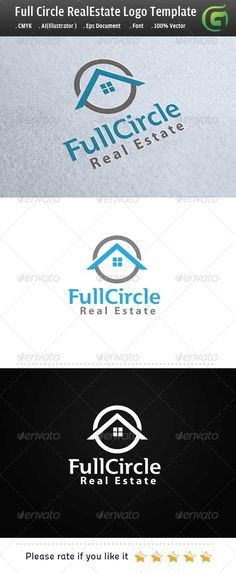 Logo for sale just 29$ Full Circle Real Estate