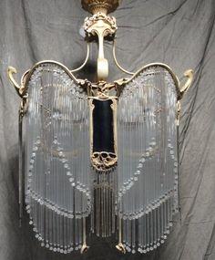 Hector Guimard Art Nouveau Chandelier *~❤•❦•:*´`*:•❦•❤~*