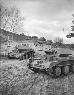 Cruiser Mk IVA tanks of 1st Armoured Division on an exercise in the UK, 20 April 1941. H9065.jpg