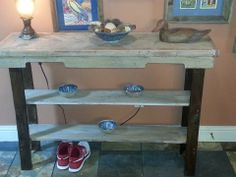 Foyer Table $90  it is painted and stained plus shipping wood pallet painted and stained Item #39