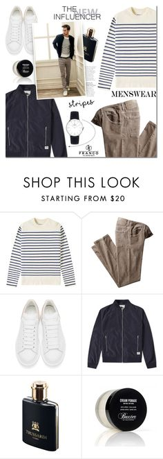 """Menswear"" by mada-malureanu ❤ liked on Polyvore featuring Norse Projects, Alexander McQueen, Penfield, Trussardi, Baxter of California, men's fashion, menswear, watch and francoflorenzi"