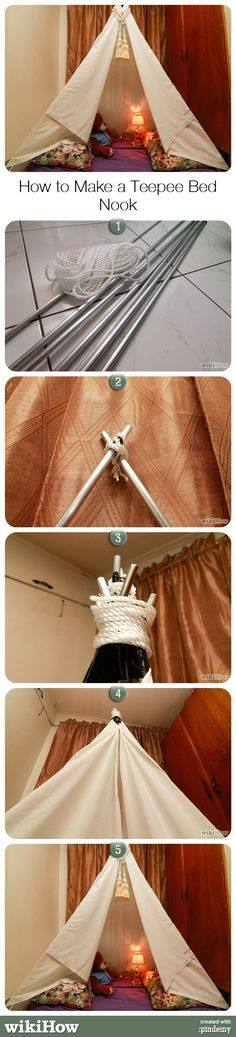 How to Make a Teepee Bed Nook