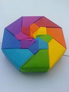Color Somewhere Over the Rainbow!!!  Octagonal Origami Rainbow Box
