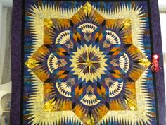 Prairie Star ~ Quiltworx.com  Made by Nancy Doyon  Nancy entered this quilt in the Winters Outdoor Quilt Festival in Winters, CA and won People's Choice!