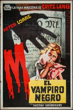 M (Dir. Fritz Lang, 1931) - Argentinean poster