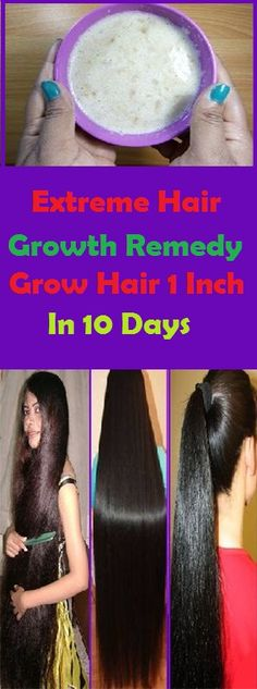 Extreme Hair Growth Remedy/ Stop Hair Loss Grow Hair 1 Inch In 10 Days!