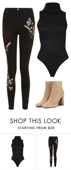 """""""Untitled #254"""" by flo-wer on Polyvore featuring Topshop and Yves Saint Laurent"""