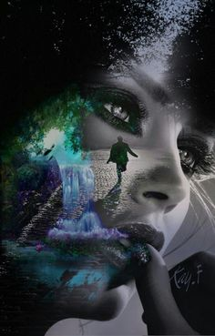 Eye artwork surrealism double exposure 30 ideas for 2019 Photo Illustration, Digital Illustration, Love Images, Beautiful Pictures, Eye Color Facts, Lake Tattoo, Blue Eye Color, Eyes Artwork, Double Exposition