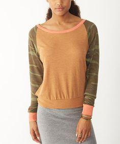 Look at this #zulilyfind! Camo Raglan Sweatshirt #zulilyfinds