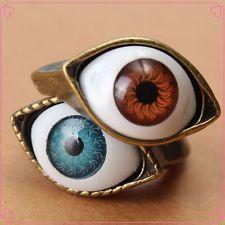 Vintage Evil Eye Finger Ring Eyeball Punk Goth Jewellery For All Ages New Option