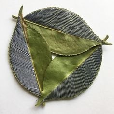 Embroidered leaves by artist Hillary Waters Fayles O Donnell, Leave Art, Art Textile, Textiles, Labor, Patterns In Nature, Meet The Artist, Stitch Design, Embroidery Art