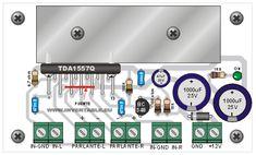 Amplificador ultracompacto - Hazlo tú mismo en Taringa! Amplificador 12v, Arduino, Honda, Retro, Home, Car Audio, Audio Amplifier, Studios, Board