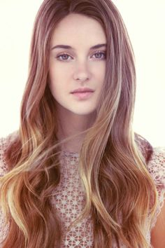 Missing Shailene Woodley's long locks? For this hair color, ask your stylist for Aloxxi Hair Color Personality Sitting In San Marco® | brunette | brown hair | long hair | hair color inspiration | beautiful hair | #WhatsYourColorPersonality