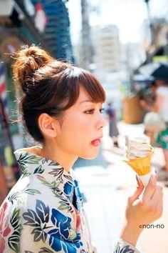 Mirei Kiritani 桐谷美玲 #Yukata > pinterest.com/yurina3c/mirei-kiritani/
