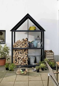 Gartenschrank bauen Diy Academy, Firewood Storage, Garden Inspiration, Beautiful Gardens, Outdoor Living, Pergola, Interior Decorating, Backyard, House Design