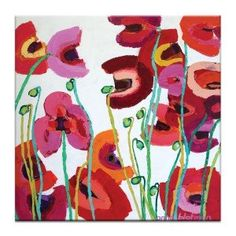 Mixed Poppies Canvas