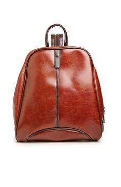 Horowitz Vegan Leather Backpack in Brown   DAILYLOOK