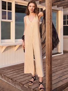 WOMEN Linen Rayon Sleeveless Jumpsuit | UNIQLO UK