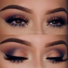 makeup inspo for navy blue dress I'll wear to my birthday party Prom makeup