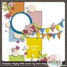 Akizo blog freebie Template - Playing With Cards 1 --- #freebie #digiscrap #digitalscrapbooking