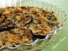 This eggplant au gratin is a very tasty side dish. An easy recipe that will be loved by everybody! Eggplant, Mashed Potatoes, Side Dishes, Easy Meals, Tasty, Vegetables, Cooking, Breakfast, Ethnic Recipes