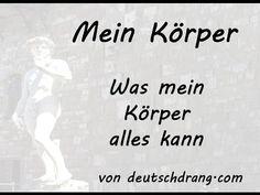 Mein Körper - German Body Parts - YouTube