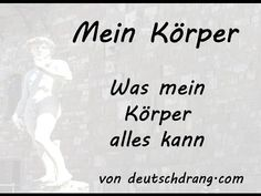 Mein Körper - German Body Parts - YouTube