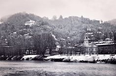 Turin  River and snow