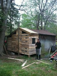 I am thinking about doing a pallet chicken coop. I live right by a flooring company, they said i...