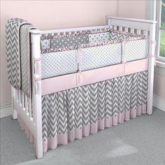 Inspiração Para Quarto De Bebê Chevron Pink And Gray Nurserygray