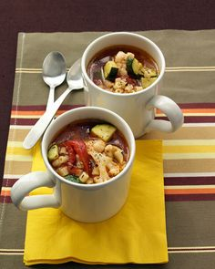 Quick Vegetable Soup | Martha Stewart Living - Warm up on a winter day with a homemade soup that you can make in 20 minutes.