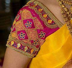 Cutwork Blouse Designs, Cotton Saree Blouse Designs, Saree Kuchu Designs, Wedding Saree Blouse Designs, Simple Blouse Designs, Stylish Blouse Design, Blouse Neck Designs, Blouse Designs Catalogue, Maggam Work Designs