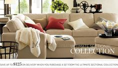 Sectional Sofa Sets & Sectional Collection   Pottery Barn