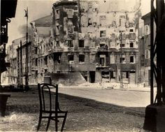 Warsaw, Poland, A street view in the ghetto after it's liquidation.