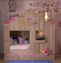 el yapımı ahşap çocuk yataği modeli 2015 - Pembedekor