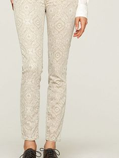 Charlie Skinny Mini Damask Jeans - Colorful Jeans - Lucky Brand Jeans