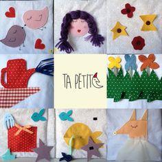 Libro tattile bambina 3-5 anni, realizzato in stoffa