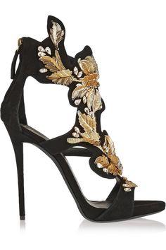 Giuseppe Zanotti Coline embellished suede sandals NET-A-PORTER.COM