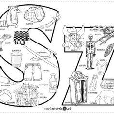 Logopedyczne gry, ćwiczenia z języka, karty do wydrukowania. - Printoteka.pl Polish Alphabet, Polish Language, Classroom, Teaching, Education, School, Origami, Speech Language Therapy, Polish