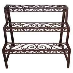 Let the Esschert Design Rectangle Etagere set the stage for your own personal flower show, with a stepped design perfect for displaying everything. Cast Iron Plant, Fallen Fruits, Traditional Porch, Rectangular Planters, Rustic Patio, Esschert Design, Flower Stands, Plant Shelves, Backyard Pergola