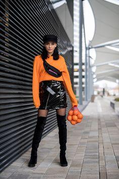 Janka Topanka - H&M Overknee Boots, H&M Skirt, H&M Sweater, H&M Hat, Streetsportline Bag - Oranges anyone? | LOOKBOOK
