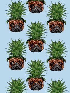 Pineapple Pug Art Print                                                                                                                                                                                 More